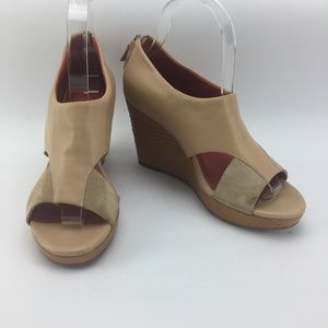 Cole Haan Air Donella Open Toe Wedge Nude Sandals